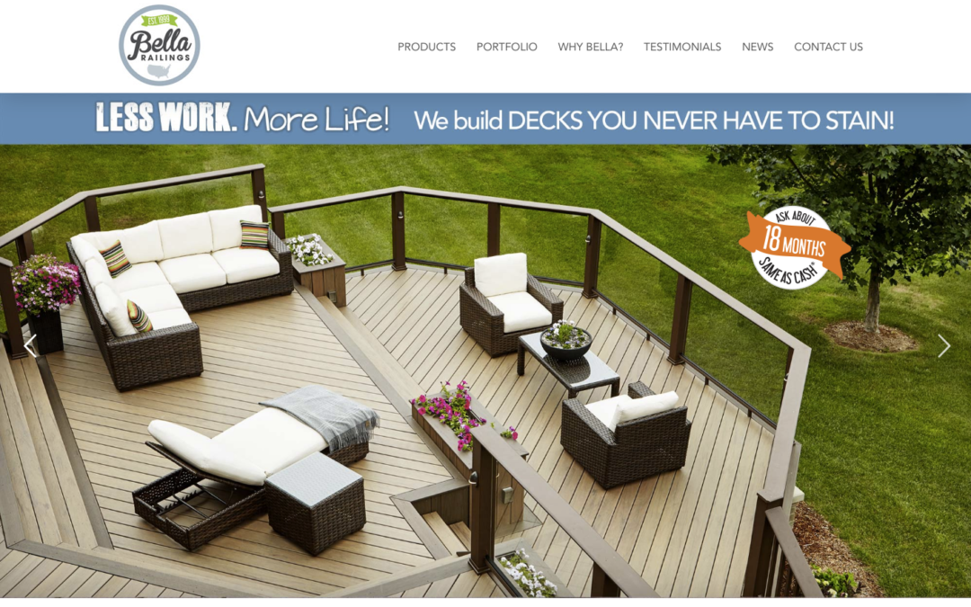 New Website Launch: Bella Railings