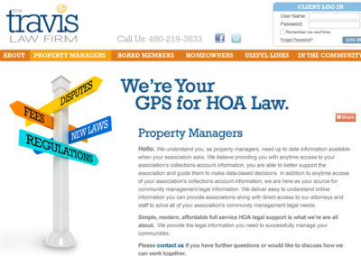 TRAVIS LAW FIRM / WEB